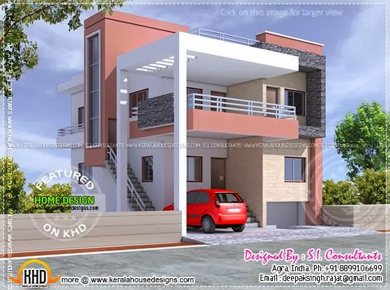 Modern indian house design with floor plans pinoy house Indian house exterior design