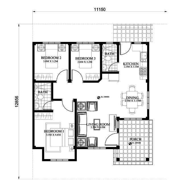 Picture Of Modern Bungalow House With Floor Plans And Firewall