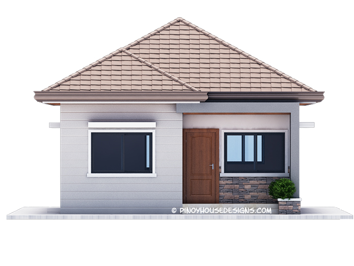 Below Are The 4 Elevations Of The House Detailing The Minute Features Of  The House. The Front View Shows The Wood Panel Door Entrance, Aluminum  Frame Window ...