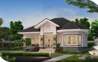 Picture of Attractive Single Floor 2 Bedroom House Design