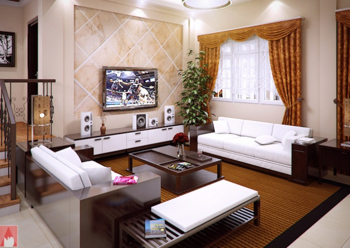 . Modern Bungalow House of Traditional Touch with Splendid Interior