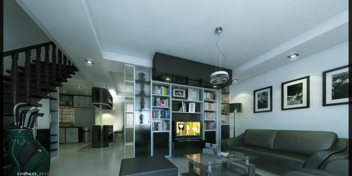 Picture of Magnificent Two Story Contemporary Residential House with Interior Design
