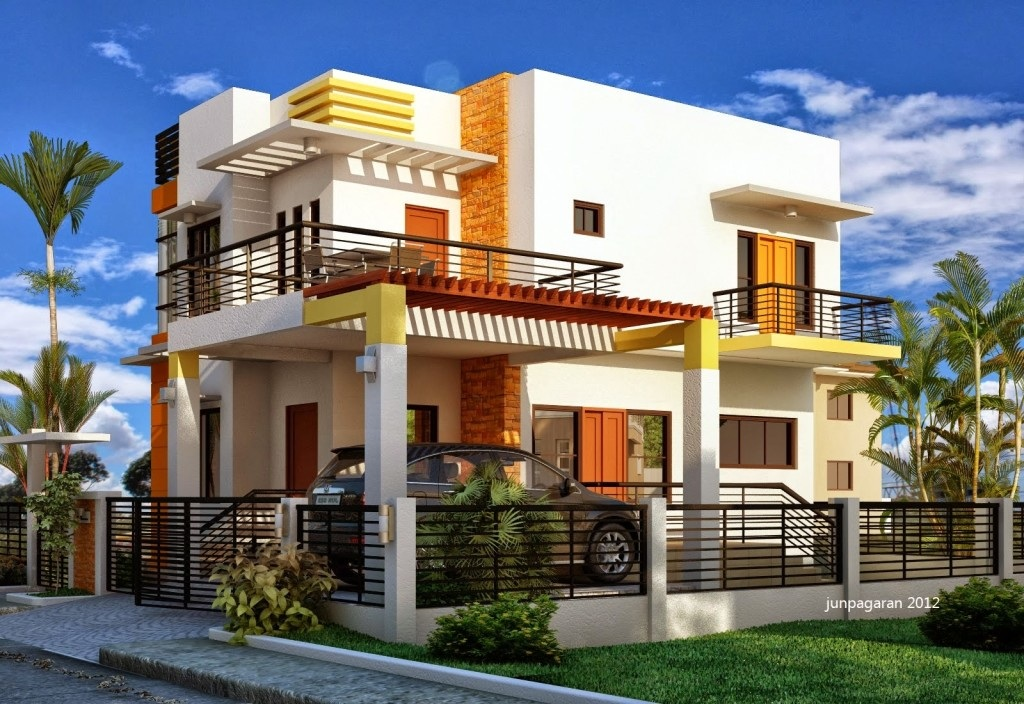 Stylish Two Storey Small Houses With Three Bedrooms Pinoy House Designs Pinoy House Designs