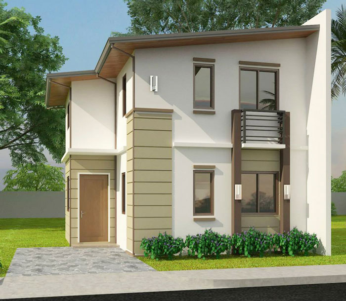 Simple 3-bedroom Single Attached 2 Story House Model