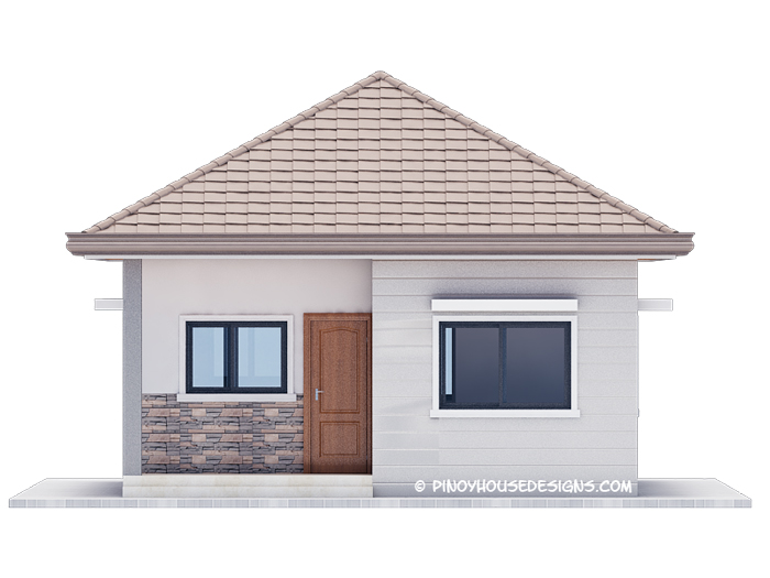 3 Bedroom Bungalow House Design. Below Are The 4 Elevations Of The House  Detailing The Minute Features Of The House. The Front View Shows The Wood  Panel ...