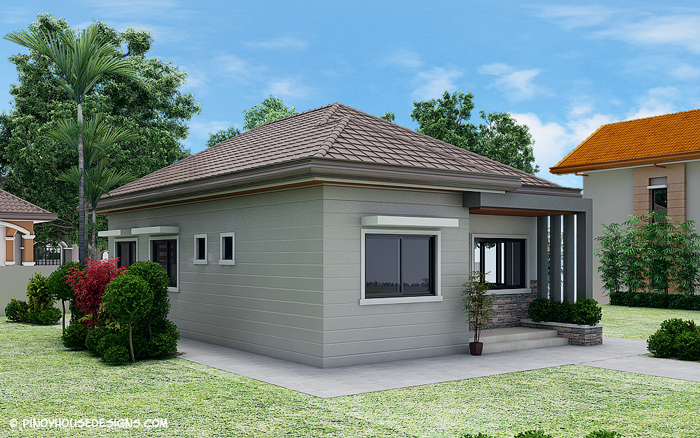 Simple 3 bedroom bungalow house design amazing for Bungalow with attic house design