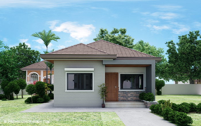 Simple 3 bedroom bungalow house design amazing for Minimalist bungalow house design