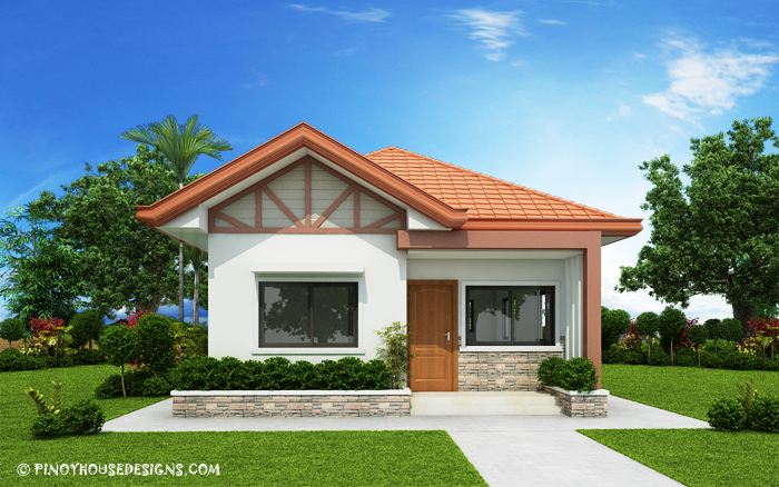 Two Bedroom Small House Design (PHD-2017035) - Pinoy House Designs ...