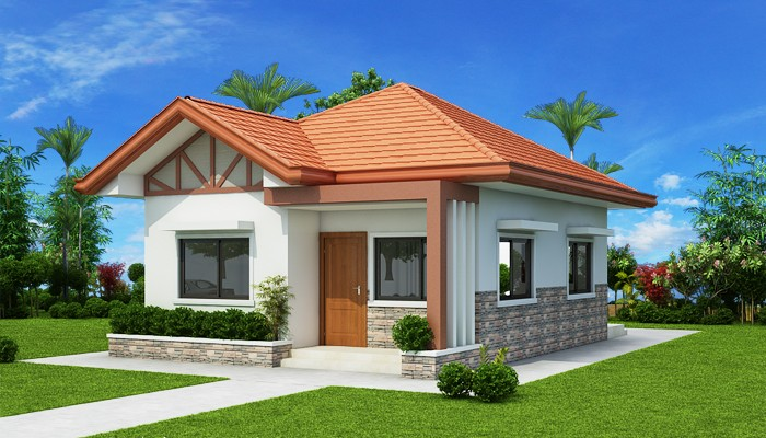 Two Bedroom Small House Design (PHD 2017035) | Floor Area: 61 Sq.m. | 2  Beds | 2 Baths