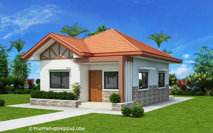 Pinoy House Designs & Two Bedroom Small House Design (PHD-2017035) - Pinoy House Designs ...