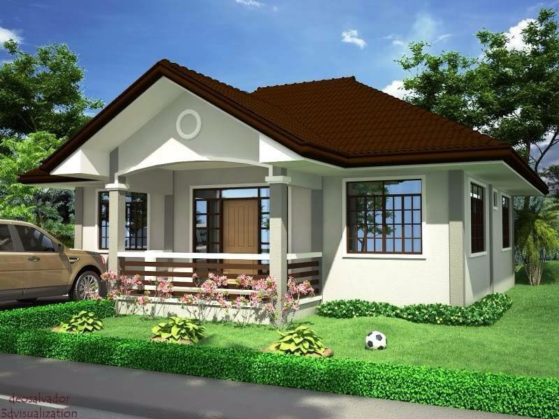 Graceful one story country house pinoy house designs for House plans and designs