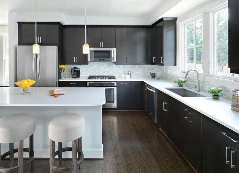 trendy monochromatic black and white kitchens  pinoy