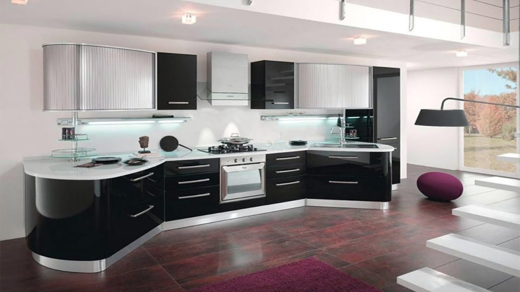 Picture of Trendy Monochromatic Black and White Kitchens