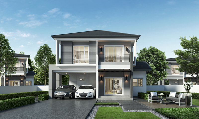 Prestigious four bedroom modern residential house pinoy for Modern residential house