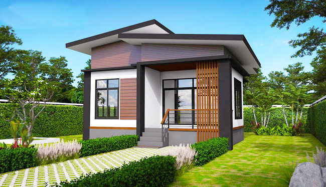 Elevated modern tropical house pinoy house designs for Tropical elevated house designs