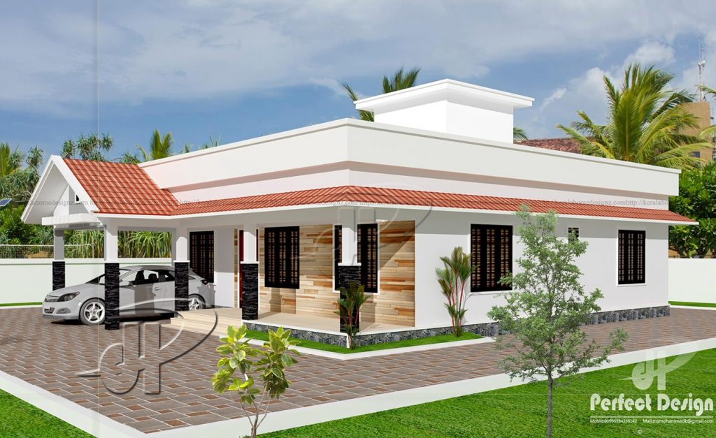 One Story Contemporary House Plan With Roof Deck Pinoy House Designs