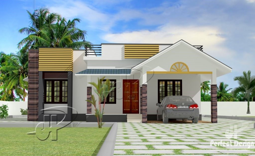 Picture of Modern Bungalow House Plan with Three Bedrooms