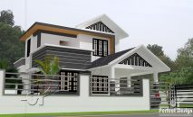 Picture of Designer Double Story Three Bedroom Modern House Plan