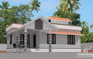 Picture of Simple Two Bedroom Single Story House