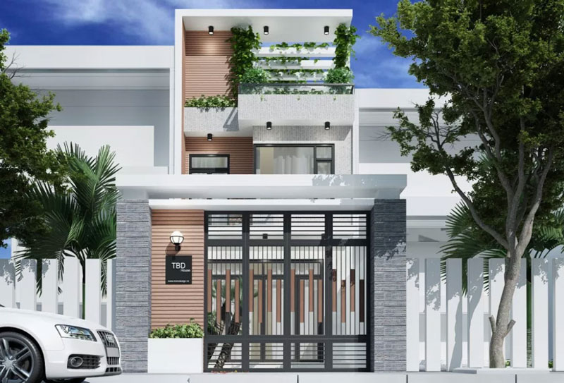 Picture of Efficiently Functional Three Story House with Narrow Lot