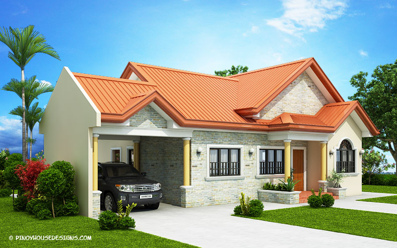 Edgardo renaissance of courtyard bungalow house pinoy for Bungalow house with firewall