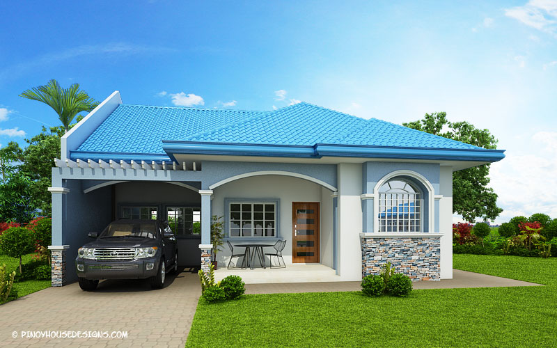 Marifel delightful 3 bedroom modern bungalow house for 3 bedroom bungalow house designs