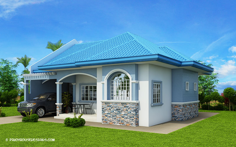 Marifel delightful 3 bedroom modern bungalow house for Modern contemporary house plans for sale