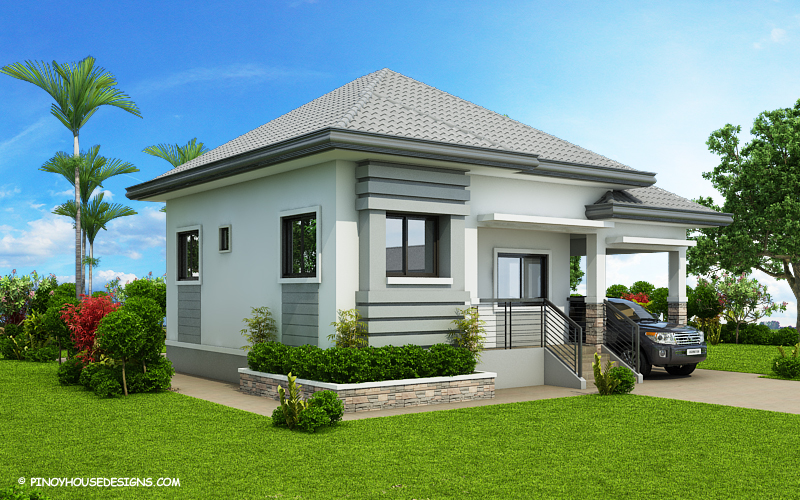 SHD 2015022 DESIGN4 Color2 View01 - View Modern Style Modern 3 Bedroom Small House Design Pictures