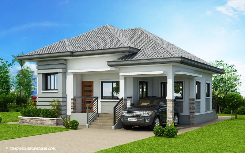 Begilda elevated gorgeous 3 bedroom modern bungalow for One story house design in the philippines
