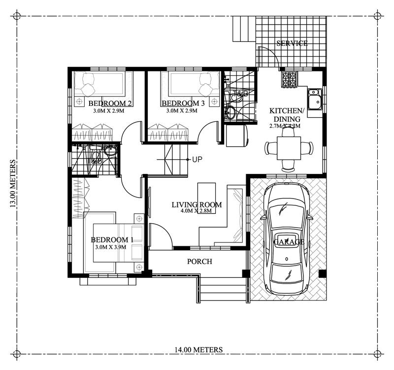 Modern House Designs 3 Bedroom: Elevated Gorgeous 3-Bedroom Modern Bungalow