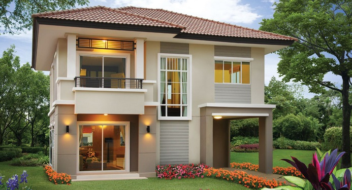 Warm And Inviting Two Story Modern House Pinoy House Designs