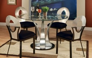 Picture of Fascinating Round Glass Tables for Deluxe Dining