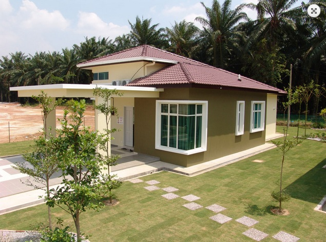 Picture of Artistic Modern Bungalow House with Melodramatic Interior Design