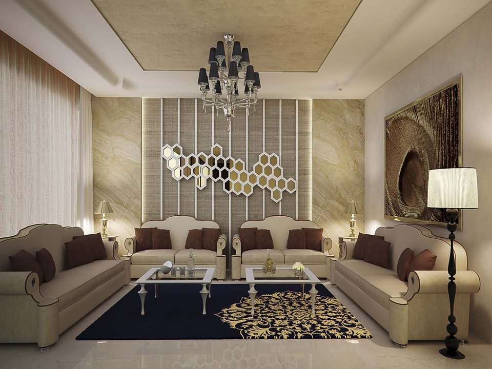 Picture of Melodramatic Expressions of Elegant Living Room Designs