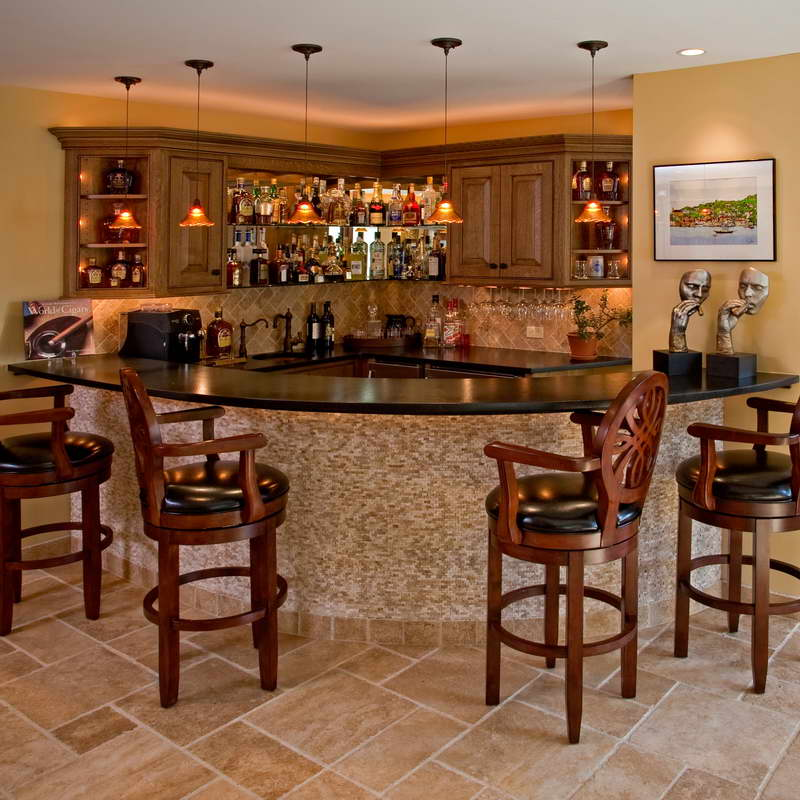 Picture of Captivating Modern Home Bar Counter Designs