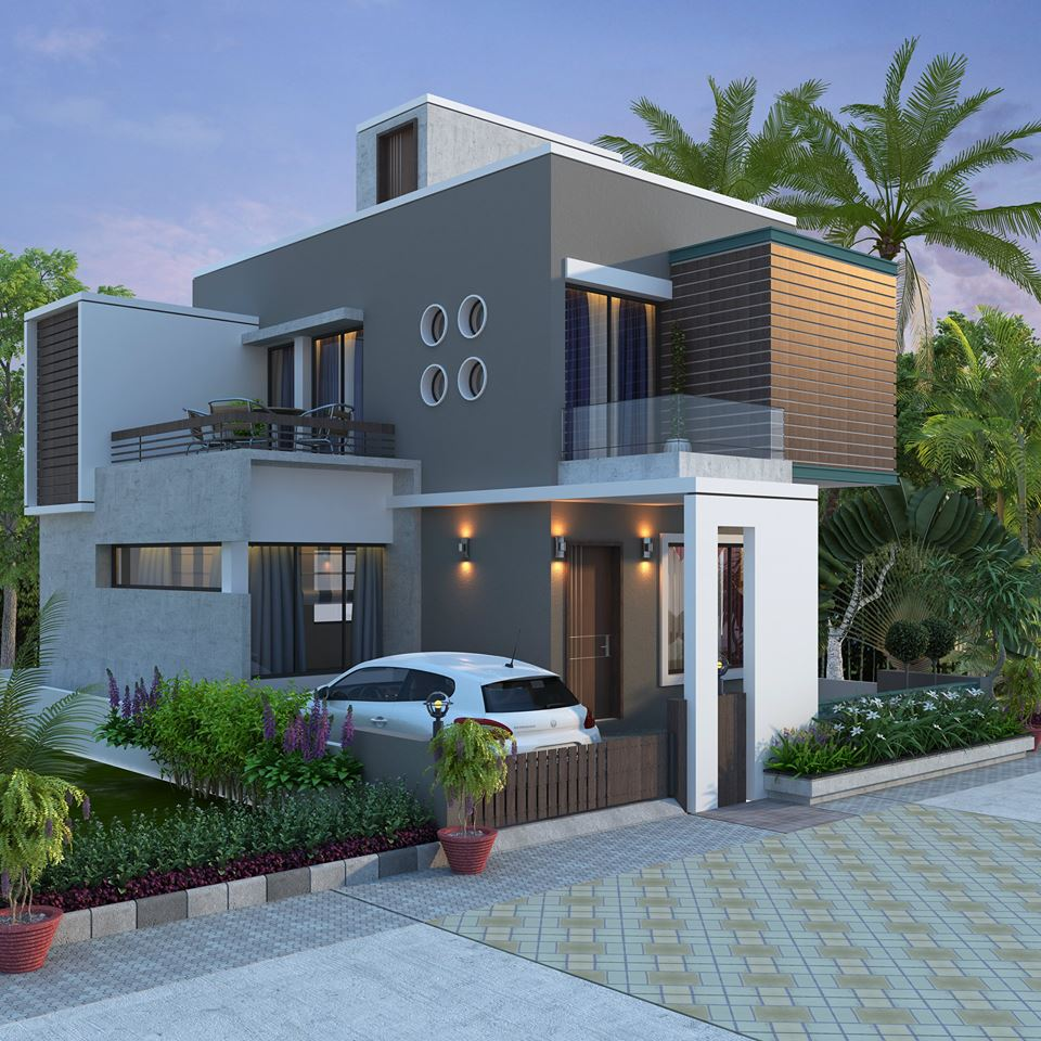 Designers Choice Of Two Story House In Small Lot