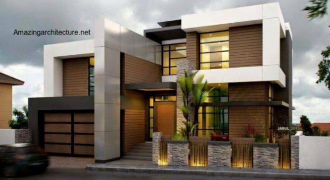 Picture of Stylish Two Story Modern House with Splendid Interior Concepts