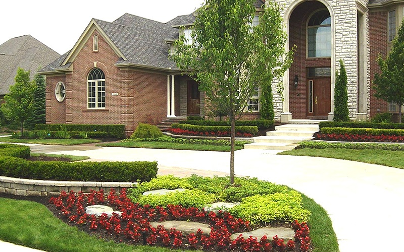 Picture of Blend and Harmony of Houses and Beautiful Landscaping