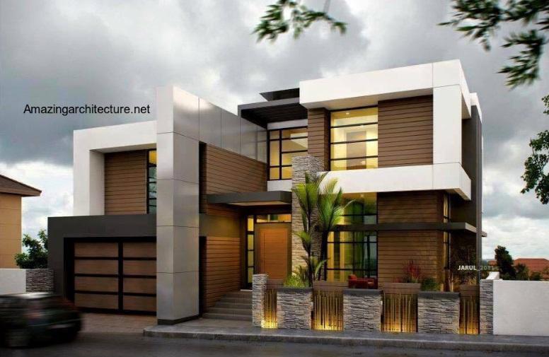 时尚的农村两层简约风格别墅设计