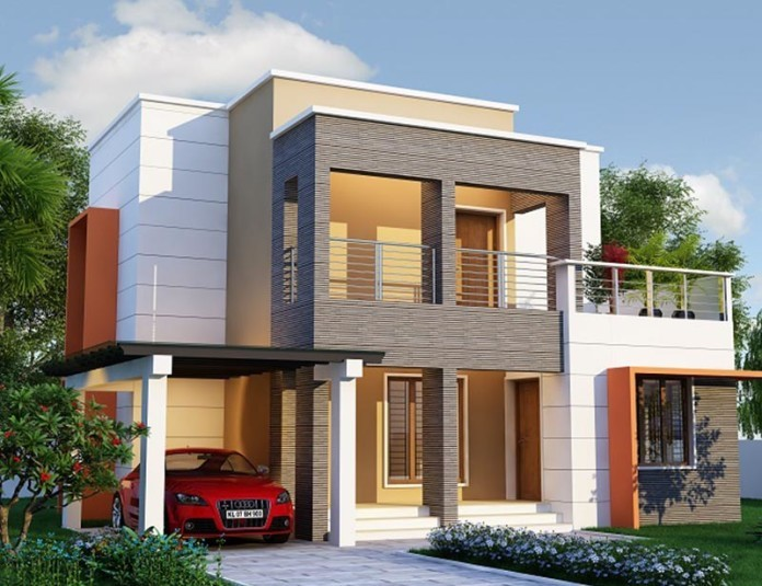 Picture of Contemporary Double Story House with Gorgeous Exterior