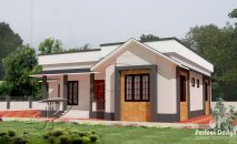 Picture of Contemporary Bungalow House with Dazzling Exterior