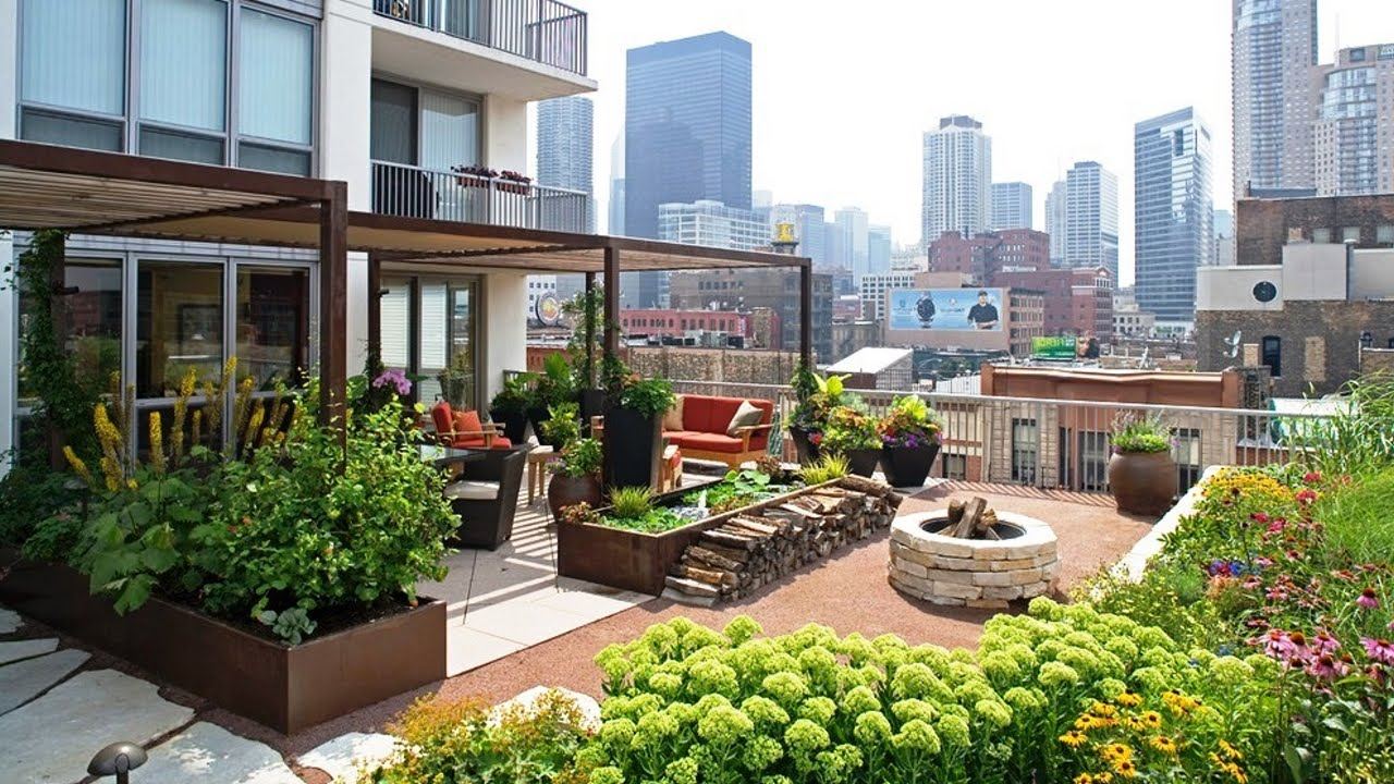 Roof Design Ideas: Gorgeous Landscape And Gardens In Rooftop Terraces