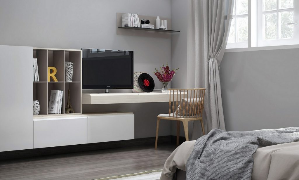 Picture of Clever Concepts of Accessorizing the Bedroom with TV Unit