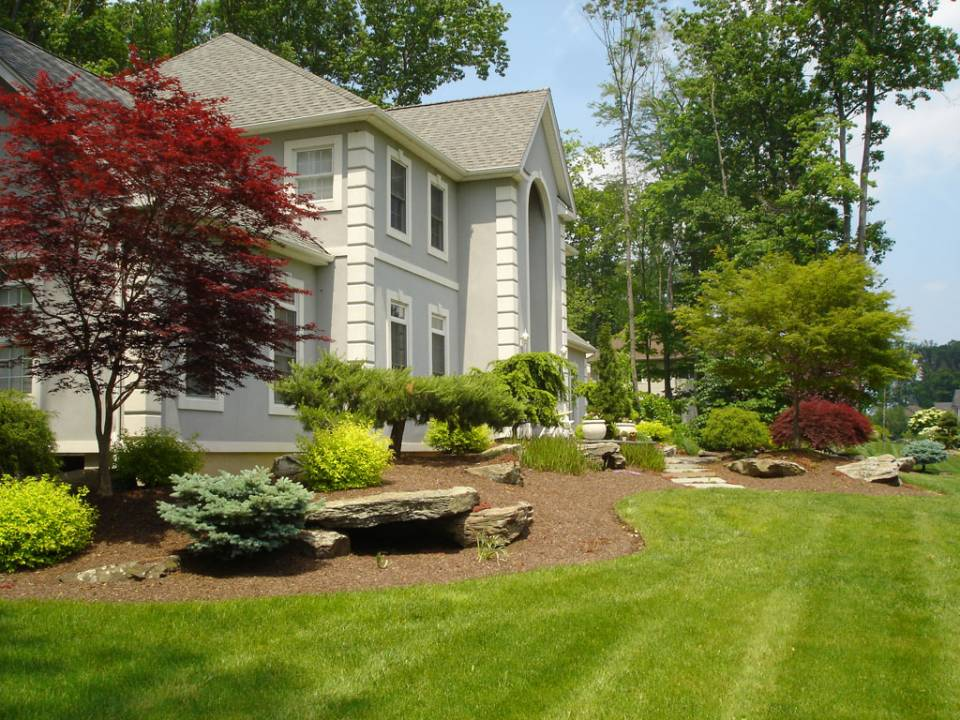 Picture of Beauty of House with Landscaped Yards