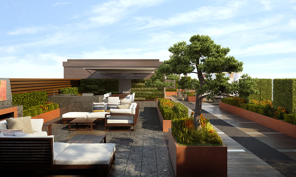 Picture of Gorgeous Landscape and Gardens in Rooftop Terraces