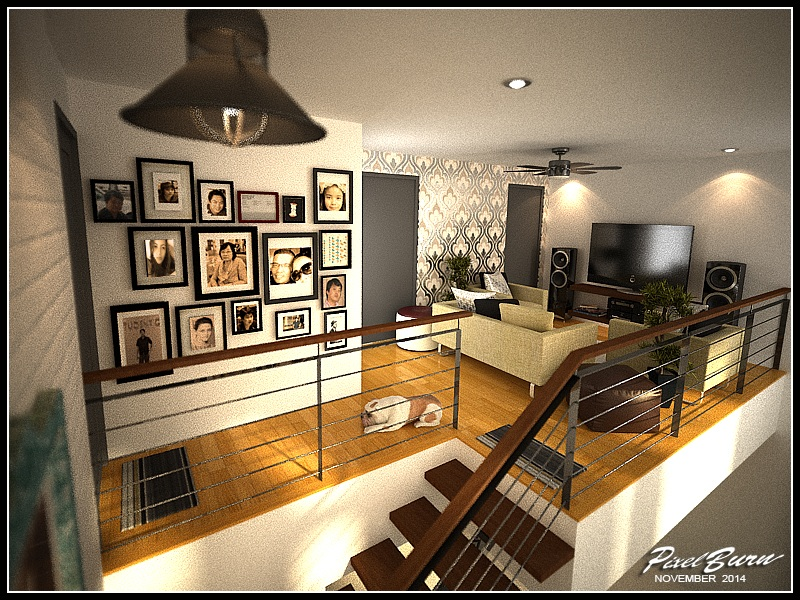 Picture of Inventive Interior Scheme of Contemporary Two Story Residence