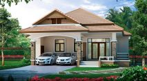 Picture of Astounding Two Bedroom Modern Bungalow House