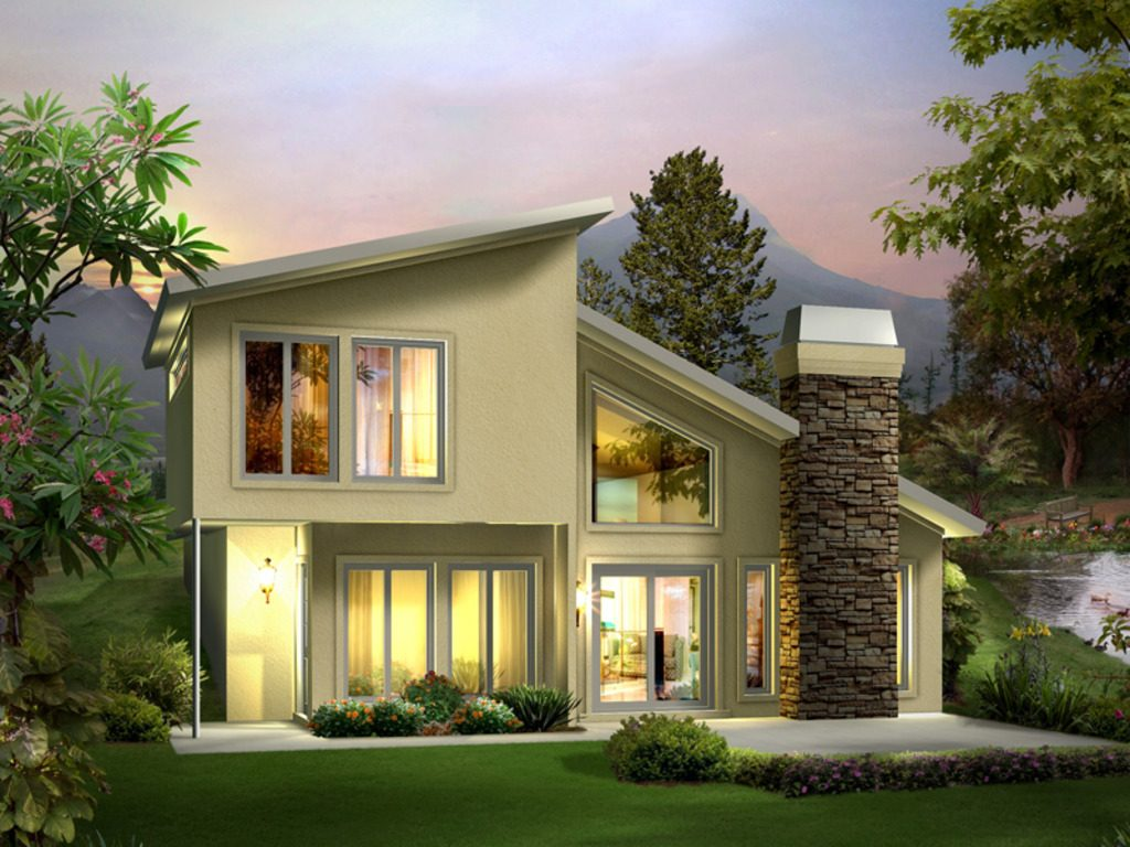 Picture of Adorable Small Two Bedroom Contemporary House with Floor Plan