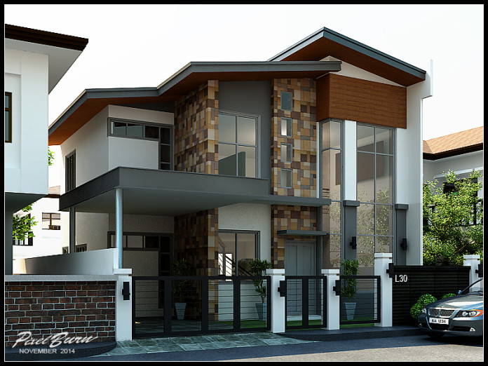 Inventive Interior Scheme Of Contemporary Two Story Residence Pinoy House Designs Pinoy