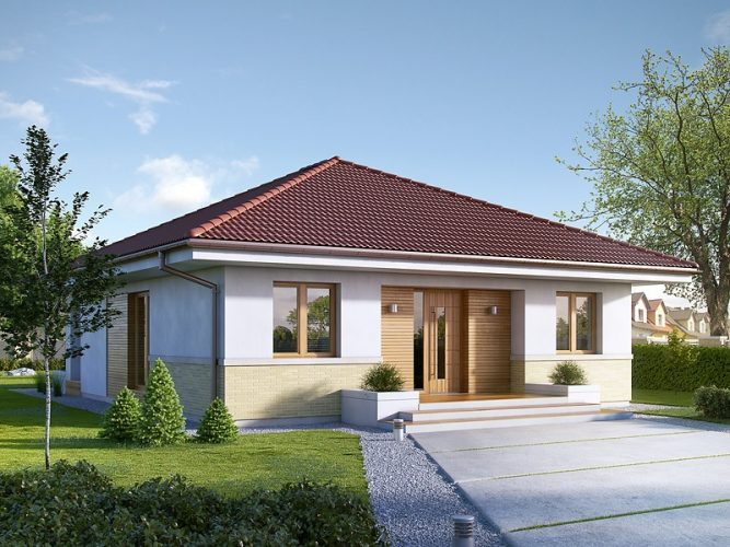 Enthralling modern bungalow house with traditional accent for House plans with hip roof styles